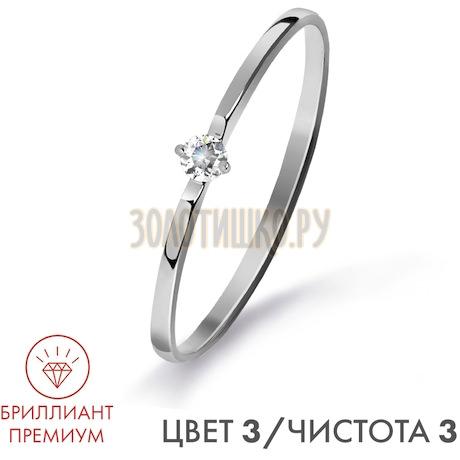 Кольцо с бриллиантом Т301015312-3