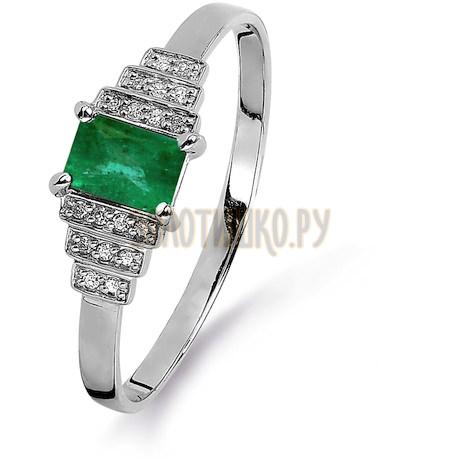 Кольцо с изумрудом и бриллиантами Т301015378_3