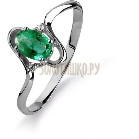 Кольцо с изумрудом и бриллиантами Т301015428