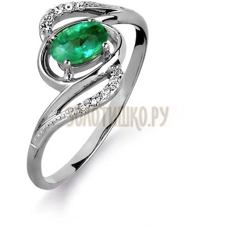 Кольцо с изумрудом и бриллиантами Т301015429