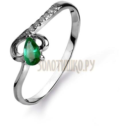 Кольцо с изумрудом и бриллиантами Т301015430_2