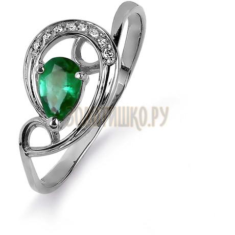 Кольцо с изумрудом и бриллиантами Т301015431_2