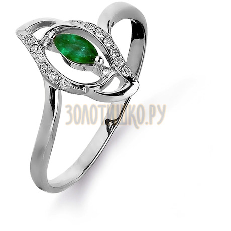 Кольцо с изумрудом и бриллиантами Т301015432_2