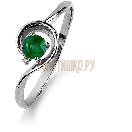 Кольцо с изумрудом и бриллиантом Т301015437