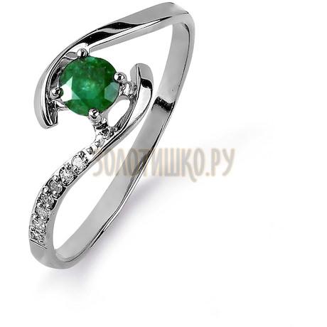 Кольцо с изумрудом и бриллиантами Т301015439