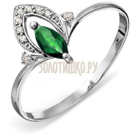 Кольцо с изумрудом и бриллиантами Т301015763