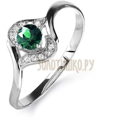 Кольцо с изумрудом и бриллиантами Т301015767_3