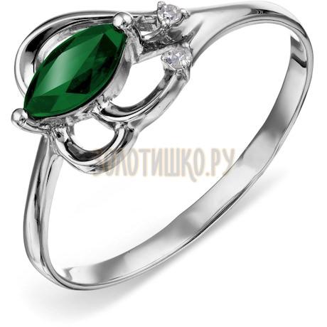 Кольцо с изумрудом и бриллиантами Т301015769