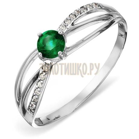 Кольцо с изумрудом и бриллиантами Т301015770_2