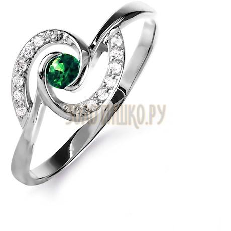 Кольцо с изумрудом и бриллиантами Т301015836_3
