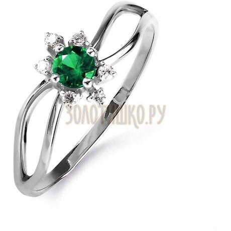Кольцо с изумрудом и бриллиантами Т301015840_3