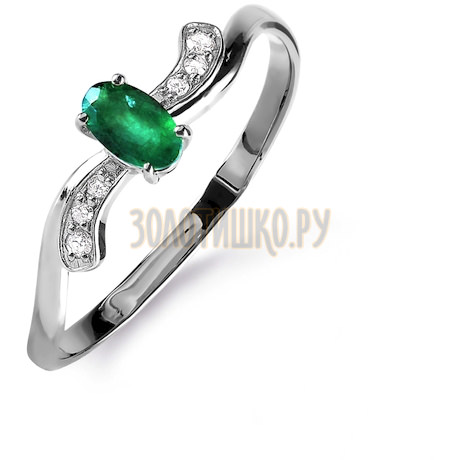 Кольцо с изумрудом и бриллиантами Т301015842_3