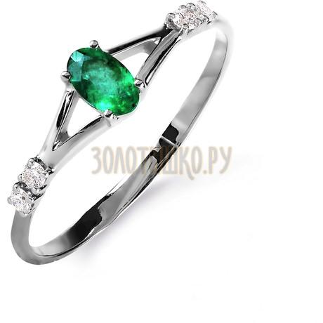 Кольцо с изумрудом и бриллиантами Т301015845_3