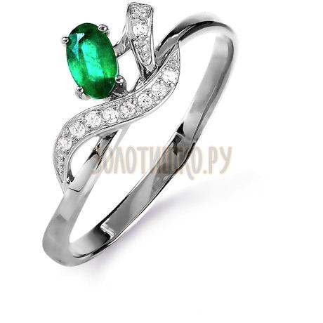 Кольцо с изумрудом и бриллиантами Т301015846_3