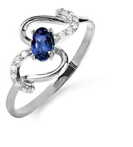 Кольцо с сапфиром и бриллиантами Т301015847
