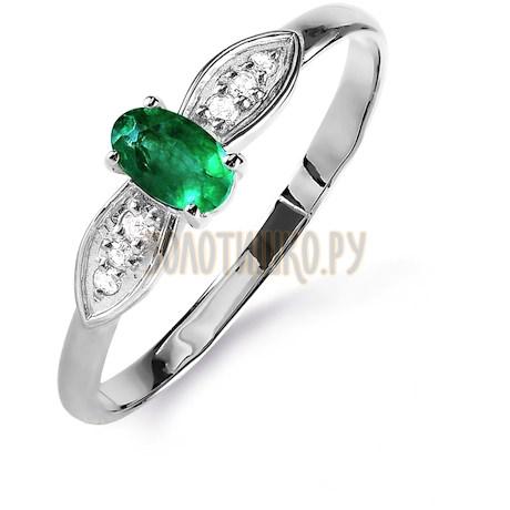 Кольцо с изумрудом и бриллиантами Т301015849