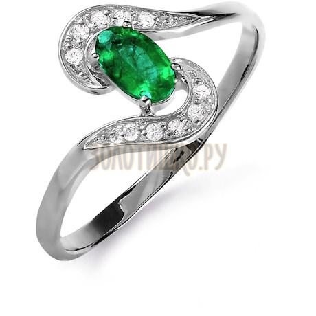 Кольцо с изумрудом и бриллиантами Т301015852_3