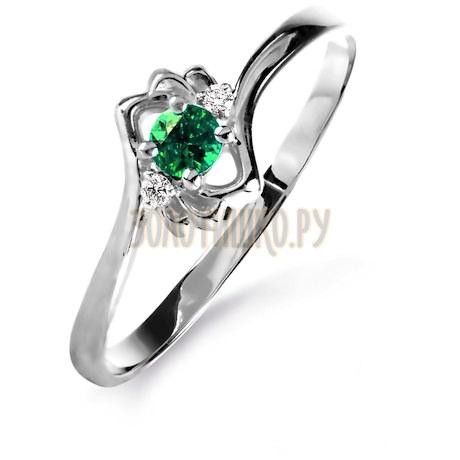Кольцо с изумрудом и бриллиантами Т301015854_3