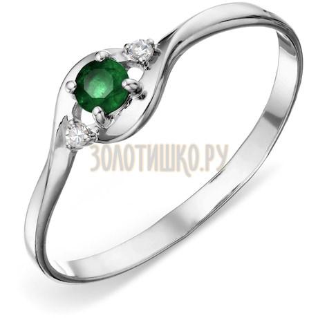 Кольцо с изумрудом и бриллиантами Т301015857_3