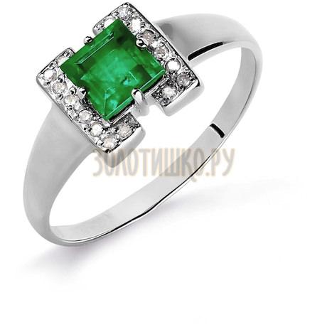 Кольцо с изумрудом и бриллиантами Т301016081