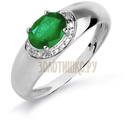 Кольцо с изумрудом и бриллиантами Т301016083_3