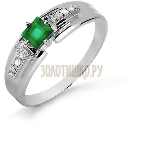 Кольцо с изумрудом и бриллиантами Т301016085_3