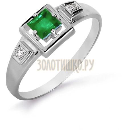 Кольцо с изумрудом и бриллиантами Т301016086_3