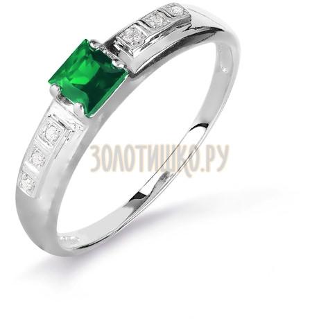 Кольцо с изумрудом и бриллиантами Т301016088_2