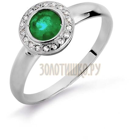 Кольцо с изумрудом и бриллиантами Т301016090_2