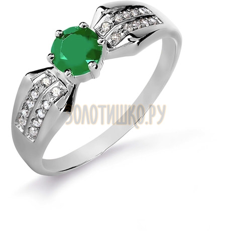 Кольцо с изумрудом и бриллиантами Т301016093_3