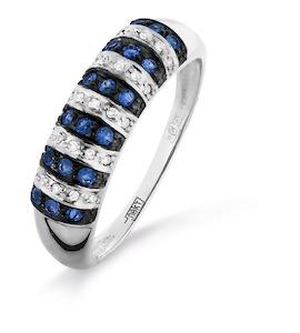 Кольцо с сапфирами и бриллиантами Т301016321