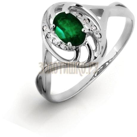 Кольцо с изумрудом и бриллиантами Т301016326-1