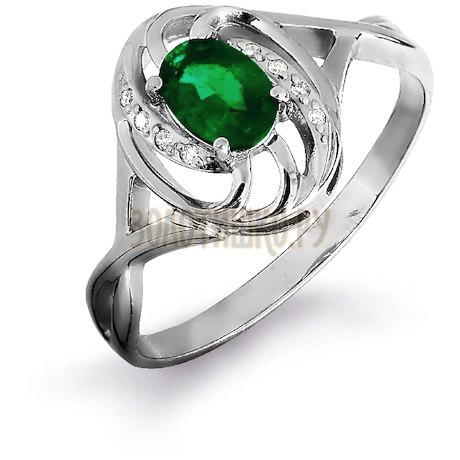 Кольцо с изумрудом и бриллиантами Т301016326_3
