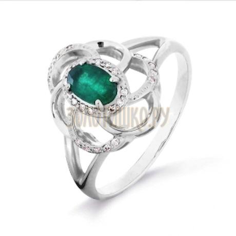 Кольцо с изумрудом и бриллиантами Т301016327-1_3