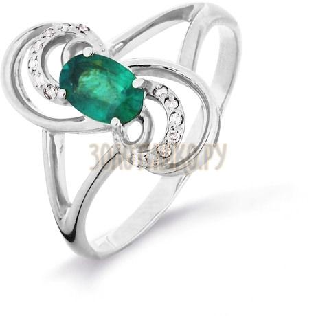 Кольцо с изумрудом и бриллиантами Т301016328_2