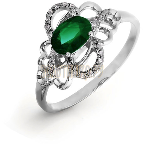Кольцо с изумрудом и бриллиантами Т301016422