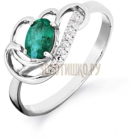 Кольцо с изумрудом и бриллиантами Т301016423_3