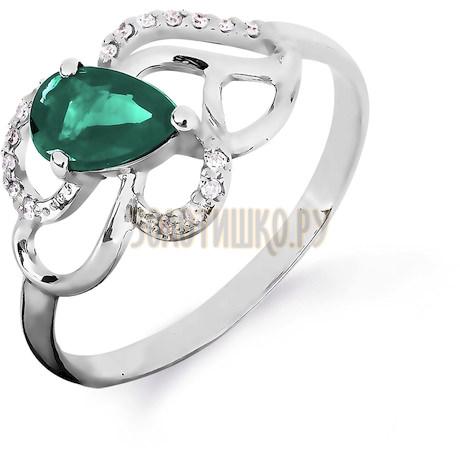 Кольцо с изумрудом и бриллиантами Т301016424