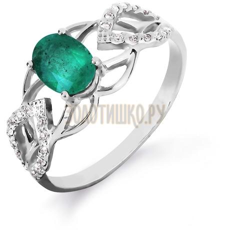 Кольцо с изумрудом и бриллиантами Т301016425