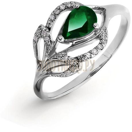Кольцо с изумрудом и бриллиантами Т301016426_3
