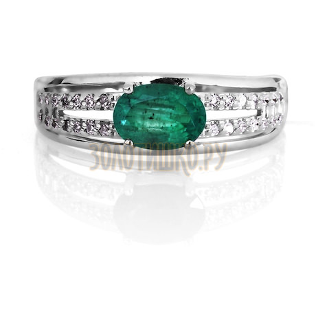 Кольцо с изумрудом и бриллиантами Т301016428_3