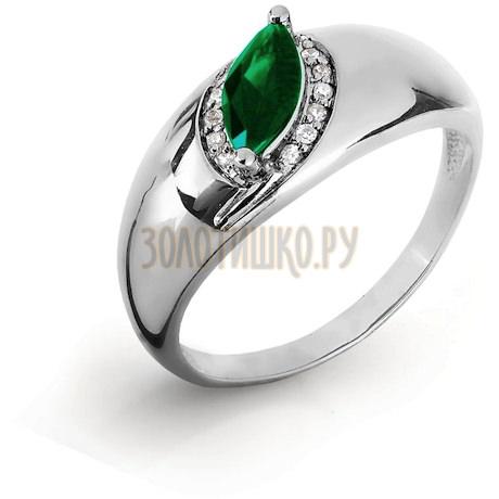 Кольцо с изумрудом и бриллиантами Т301016433_2