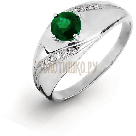 Кольцо с изумрудом и бриллиантами Т301016434
