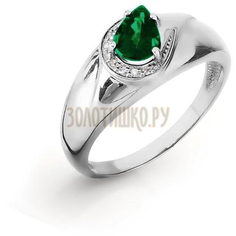 Кольцо с изумрудом и бриллиантами Т301016435_3
