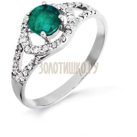Кольцо с изумрудом и бриллиантами Т301016436_3