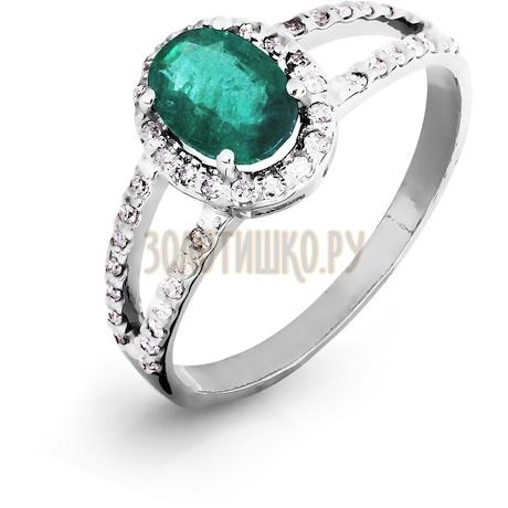 Кольцо с изумрудом и бриллиантами Т301016437_2