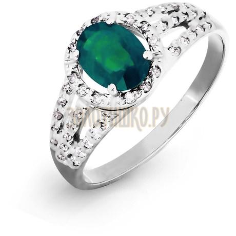 Кольцо с изумрудом и бриллиантами Т301016438_3