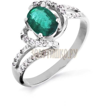 Кольцо с изумрудом и бриллиантами Т301016439