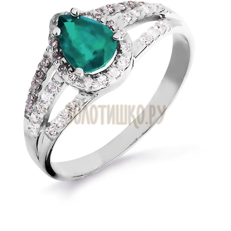 Кольцо с изумрудом и бриллиантами Т301016441_3