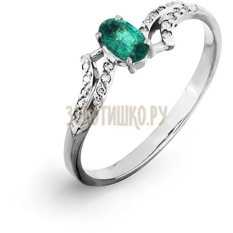 Кольцо с изумрудом и бриллиантами Т301016507_2